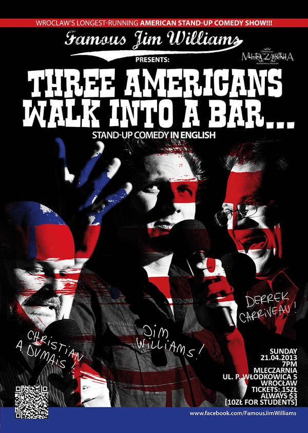 Three Americans walk into a bar...poster