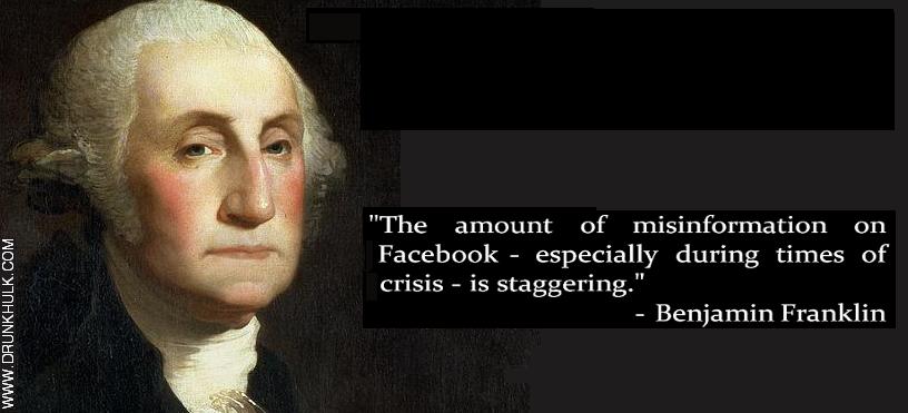 Misinformation Benjamin Franklin