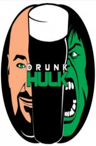 Drunk Hulk design by Scott Bradley