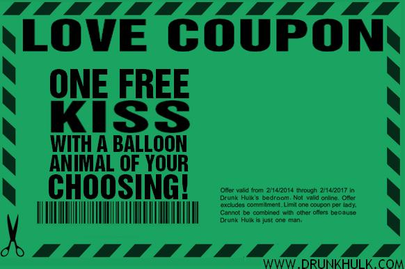 One Free Kiss with a Balloon Animal of Your Choosing