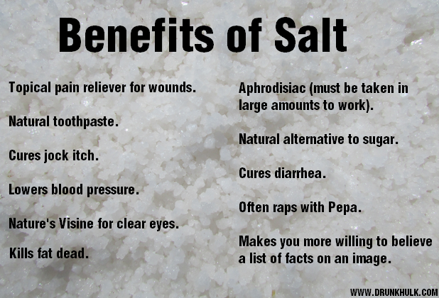 The Benefits of Salt