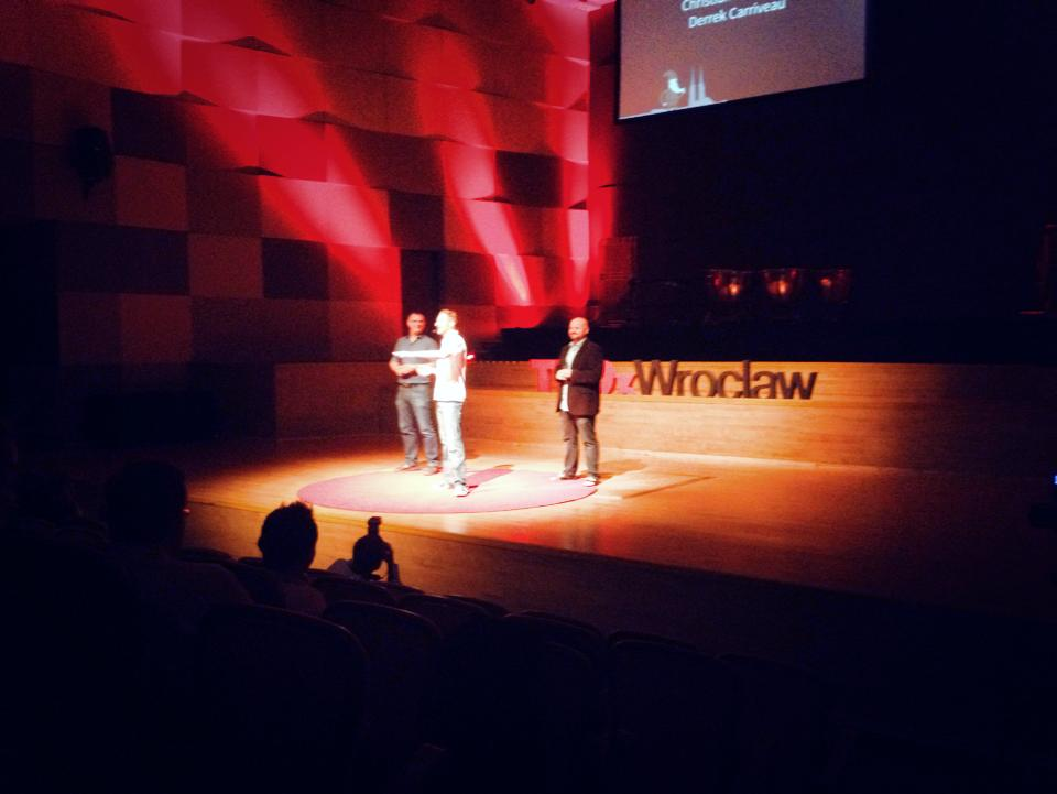 TEDxWroclaw on stage