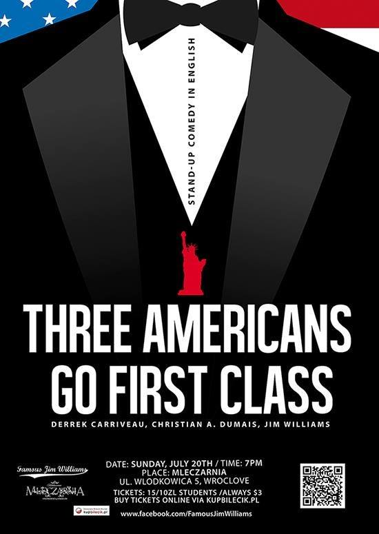 Three Americans Go First Class – TONIGHT!